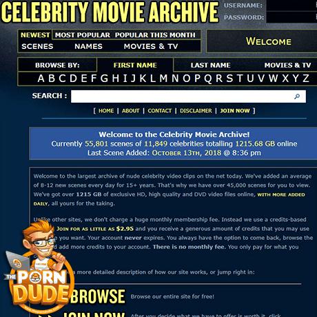 Celebrity Movie Archive